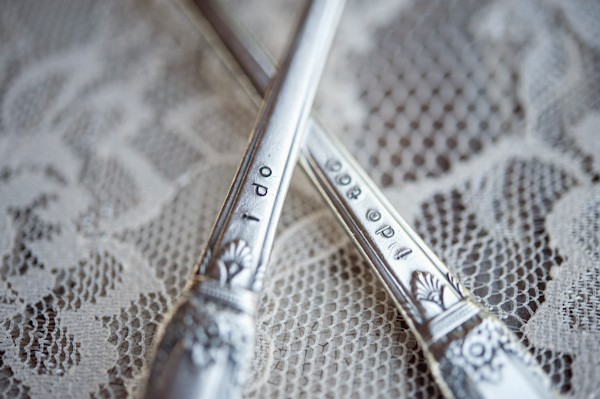 engraved wedding forks