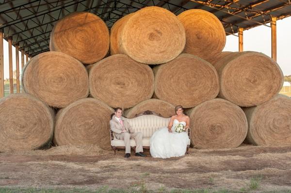 hay wedding photos