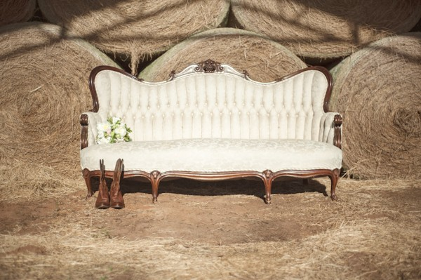 rustic wedding couch