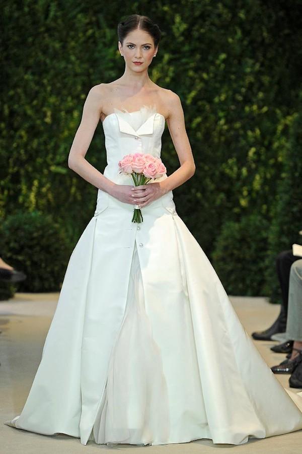 tuxedo inspired wedding dresses