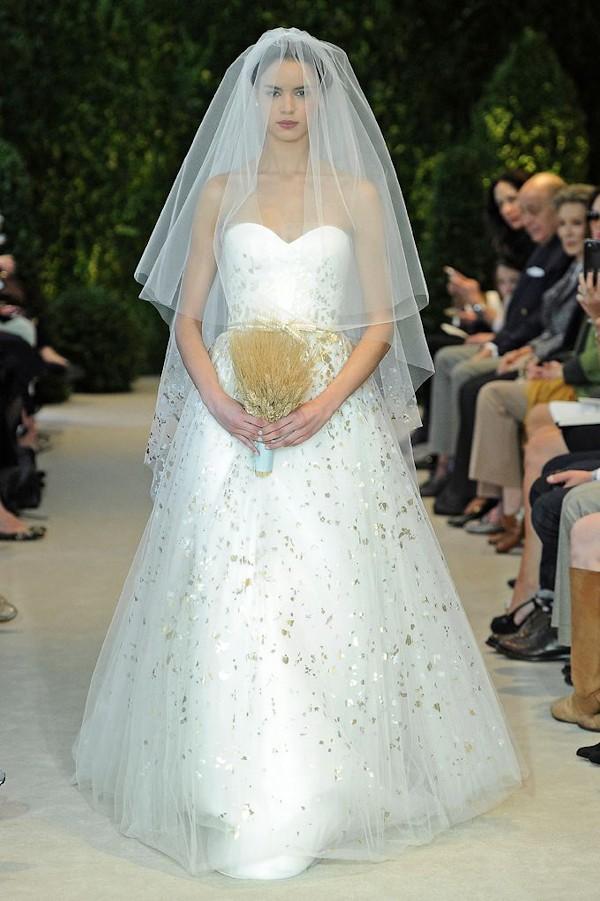 gold detail wedding dresses