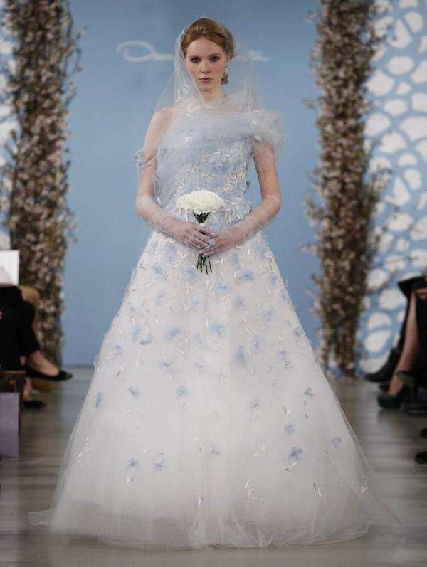 something blue wedding dresses