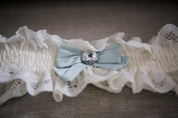 lace garter with blue bow