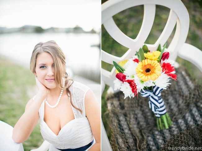 nautical themed wedding bouquet