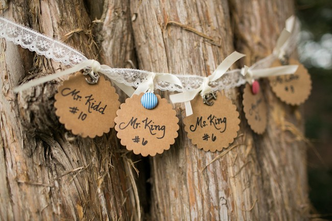 rustic wedding table number ideas