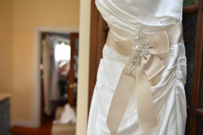 wedding dress with sash