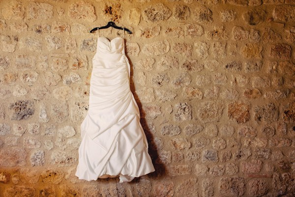 dress handing on wall