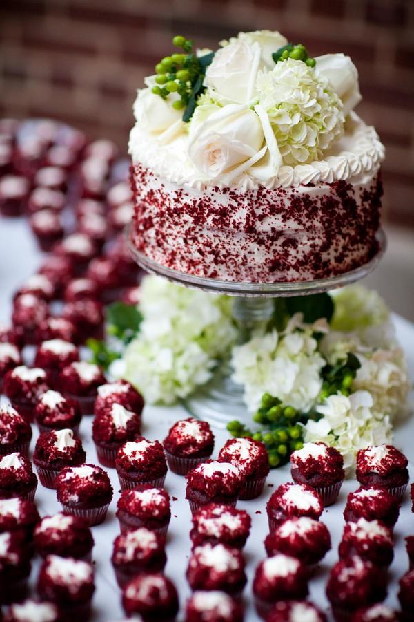 red velvet wedding cake topper