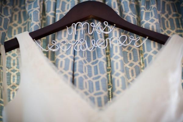 custom wedding name hanger