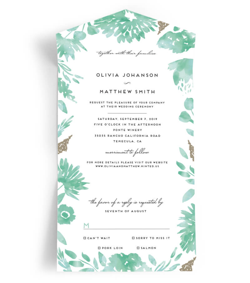 Minted Wedding Invitations — Destination Wedding Blog, Honeymoon