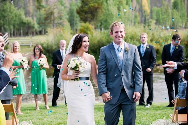 flower wedding exit