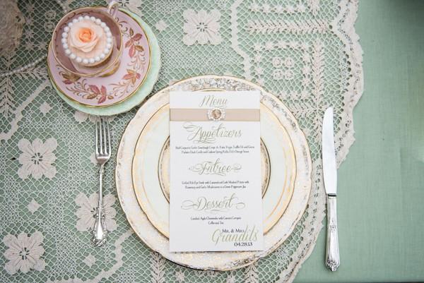 vintage wedding china