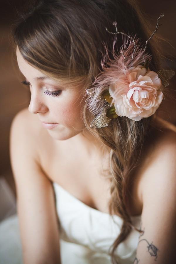rustic hair flower