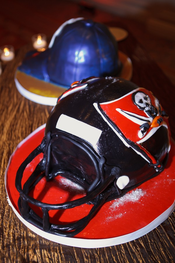 football groom cake