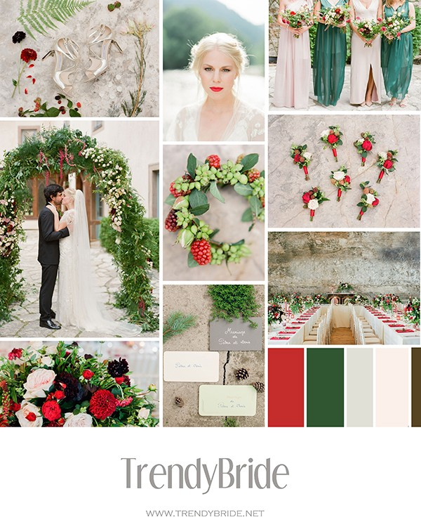 ae0e4a8678c Christmas Wedding Inspiration — Trendy Bride - Destination Wedding Blog