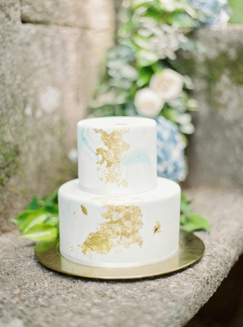 Two Tier Wedding Cakes Trendy Bride Fine Art Wedding Blog