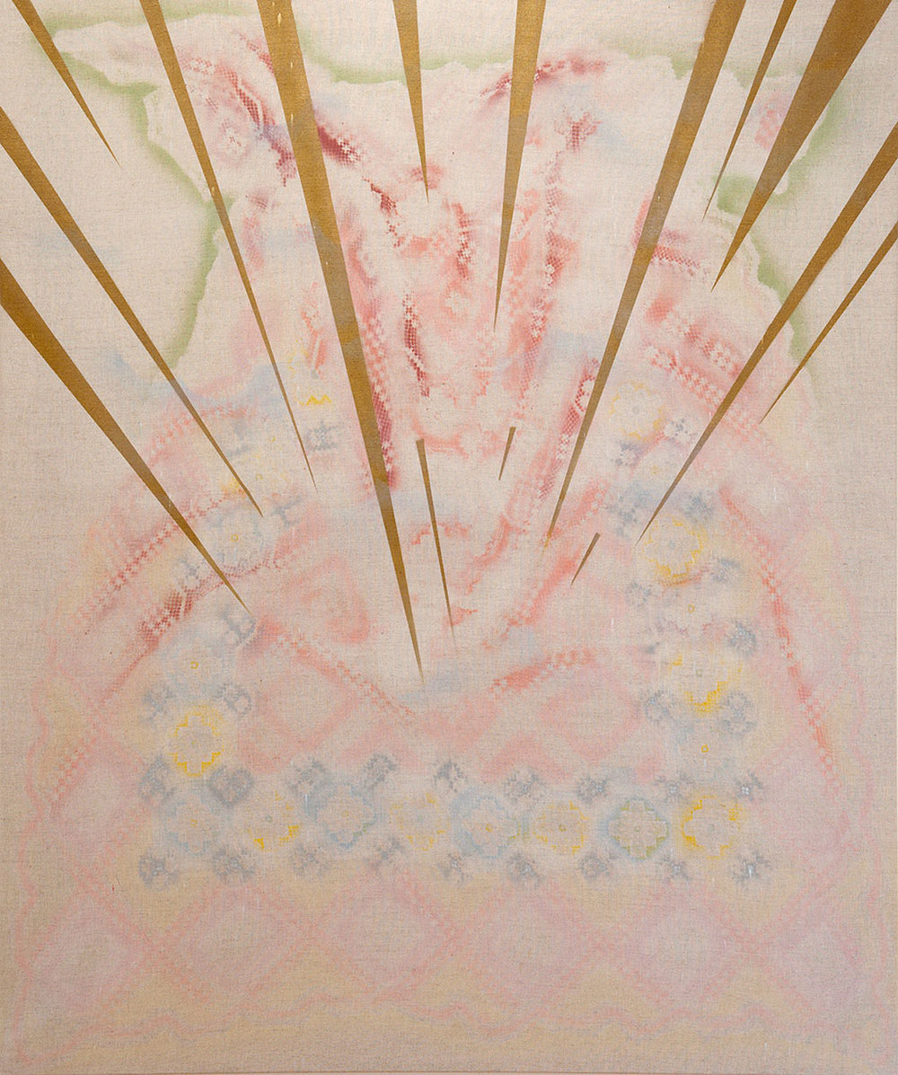 Scattering like light, 2010, Spray paint on linen, 150 x 125 cm