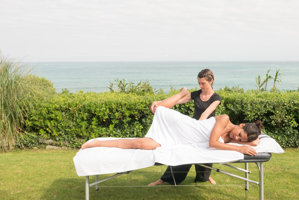 Massages luxe à Biarritz, sur la côte basque par Elodie LE SAUX de Bihaimassages