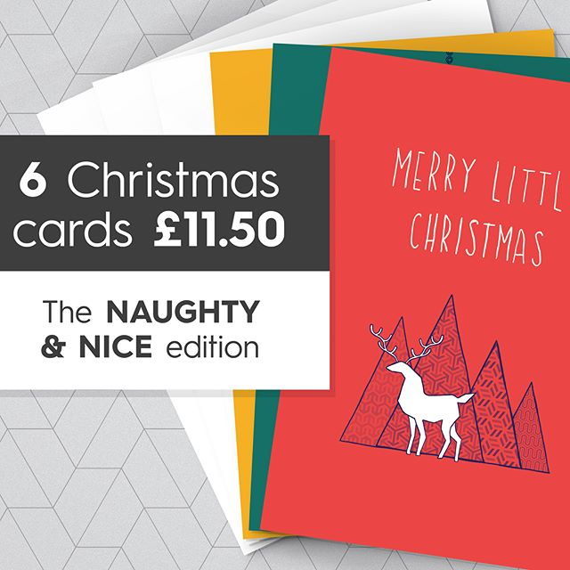 CHRISTMAS CARDS ARE NOW AVAILABLE - The 'Naughty & Nice' edition. Whether you love or hate Christmas, want one card or ten, then take a look these bad boys! Conceptualised from the depths of my humor and drawn from the art in my fart....PLEASE SHARE IF YOU CARE oxoxoxo • LINK IN BIO •