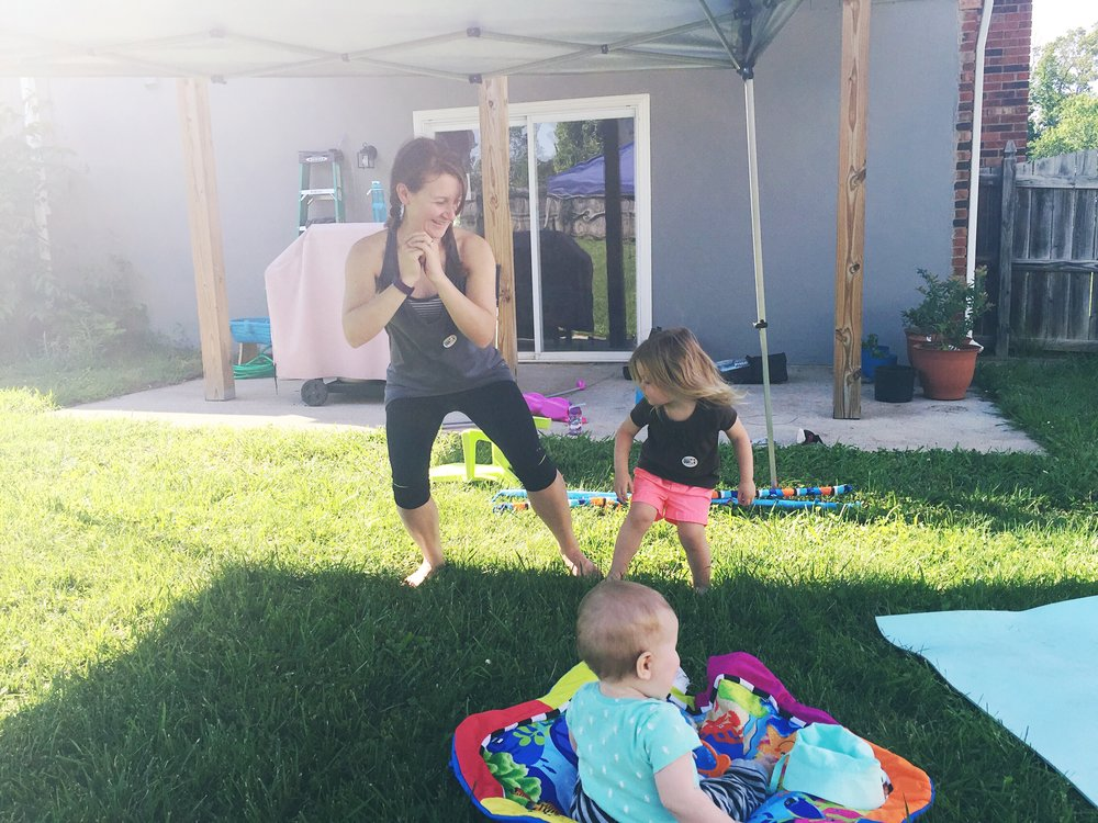 Hi there! - I'm Alexis, certified personal trainer and funfetti cake aficionado. What lights me up? Deadlifting. Baby belly laughs. The look on someone's face when they smash their PR. Educating moms about their pelvic floor (yes, really). Click here to read more about my story and Fierce Mama Fitness!