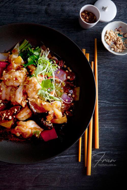 Stir Fried Kung Pao Prawns