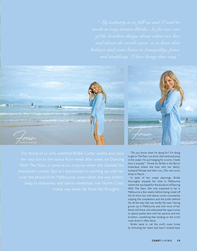 BRIDIE CARTER FOR COAST LIVING MAGAZINE >>