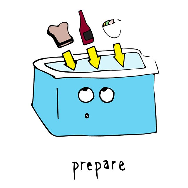 PREPARE • DROP • ENJOY   The Cottage Cooler #cottagecooler   #motto #cottage #cooler #muskoka #muskokawoods #woods #food #catering #lovefood #love #cater #prepare #drop #enjoy #relax #yay #yummy #goodfood #foodporn #foodie