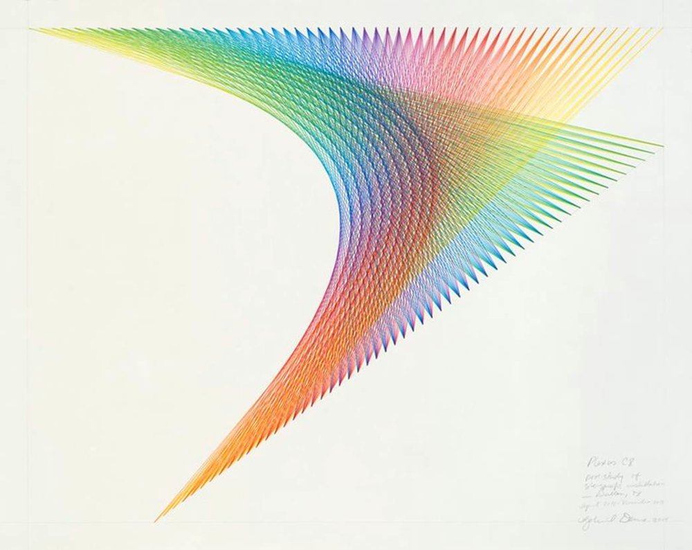Gabriel Dawe Plexus C8, 2014 Colored pencil