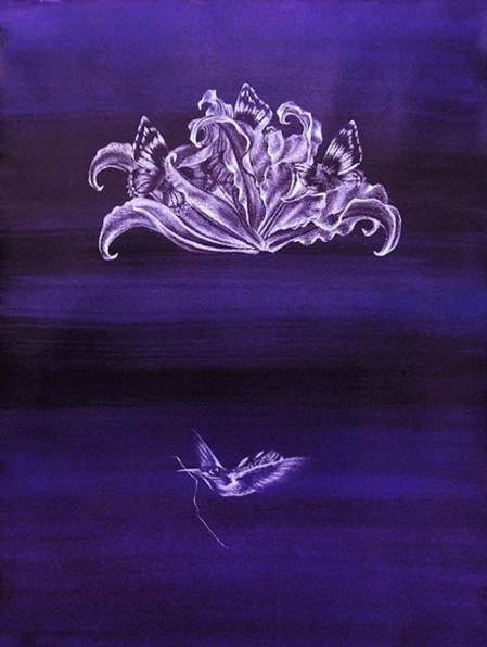 Francine Fox Risen, 2013 Watercolor, gouache, white charcoal on paper