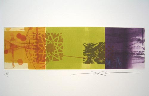 Araki Shinko Flower Pieces XVII, 2015 Color aquatint