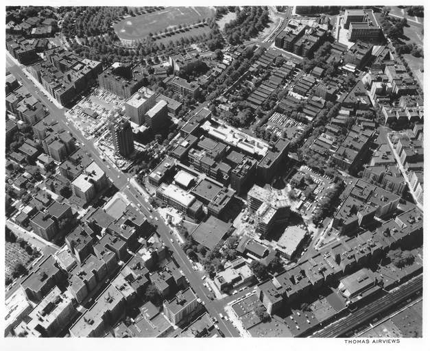 1965 Aerial View of Gun Hill Road Digital archival print