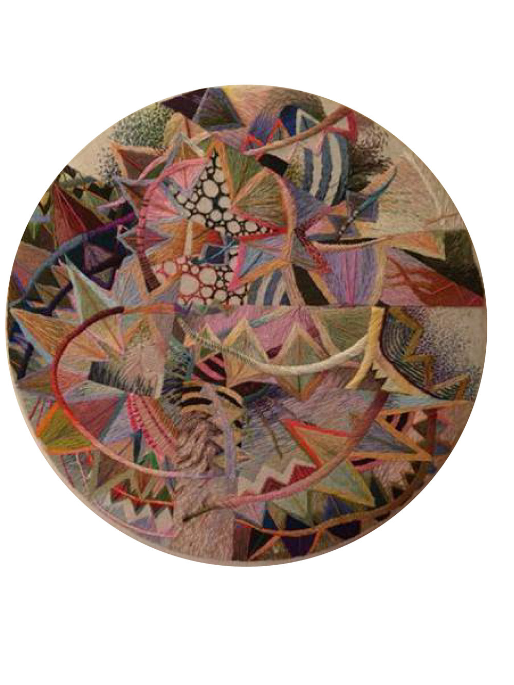 Ruth Miller Seminal Circle, 2011 Original hand embroidered tapestry