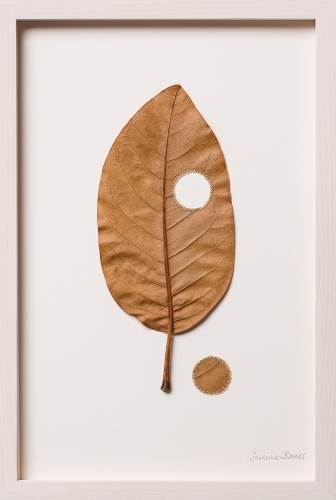 Susanna Bauer From Within II, 2016 Magnolia leaf and cotton thread