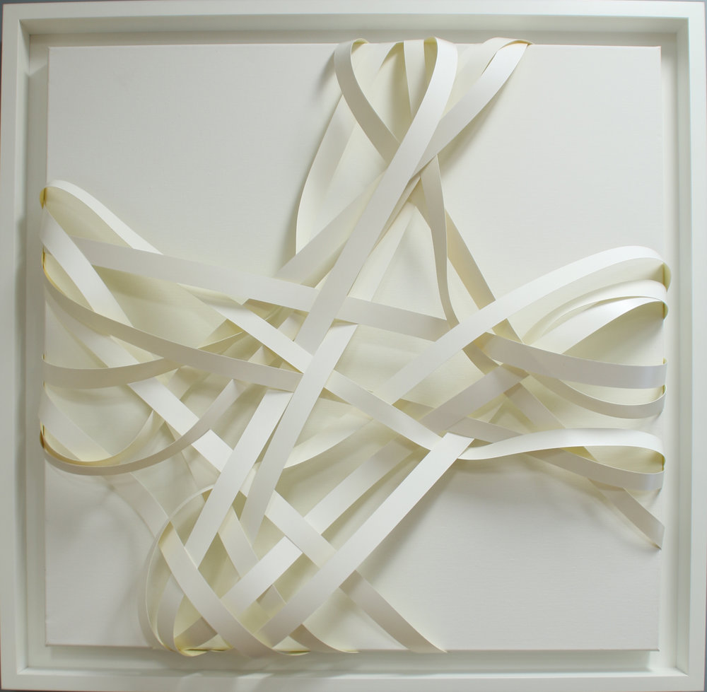 Joseph Dermody Dhyanna, 2015 White melamine on canvas