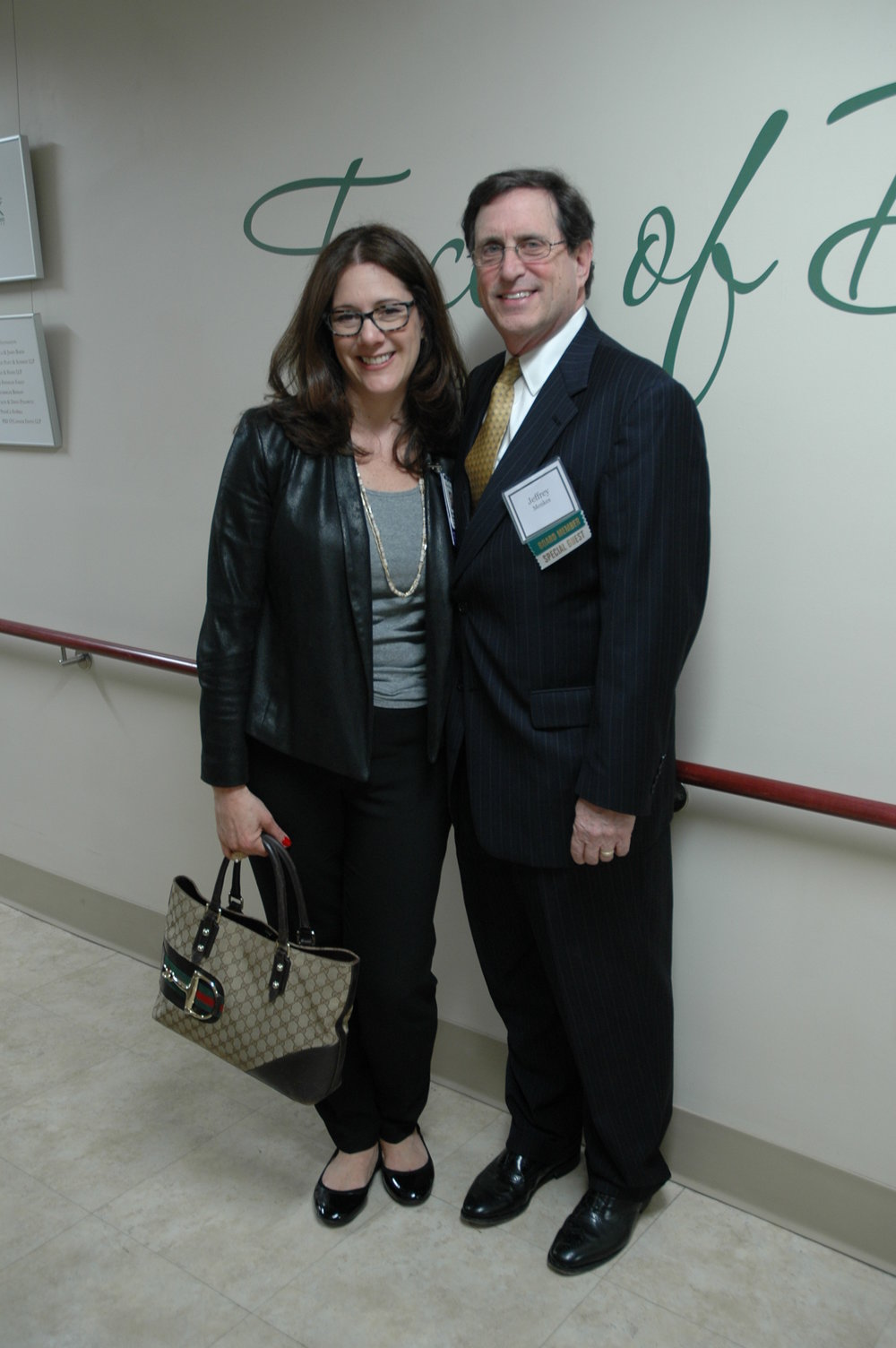 Rachelle Sanders (left), VP Chief of Development at Montefiore, standing with Jeffrey Menkes (right), President and CEO at Burke Rehabilitation