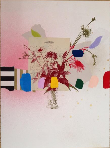 Emily Filler Paper Bouquet (Letter from 1932), 2017 Mixed media on paper