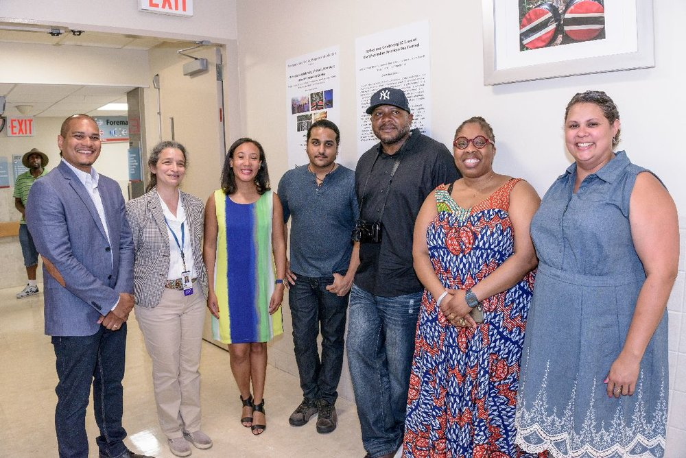 Artists with Curator Jodi Moise of Montefiore, Curator Erin Hylton, and Organizer Yolanda Rodriguez with BxArts Factory