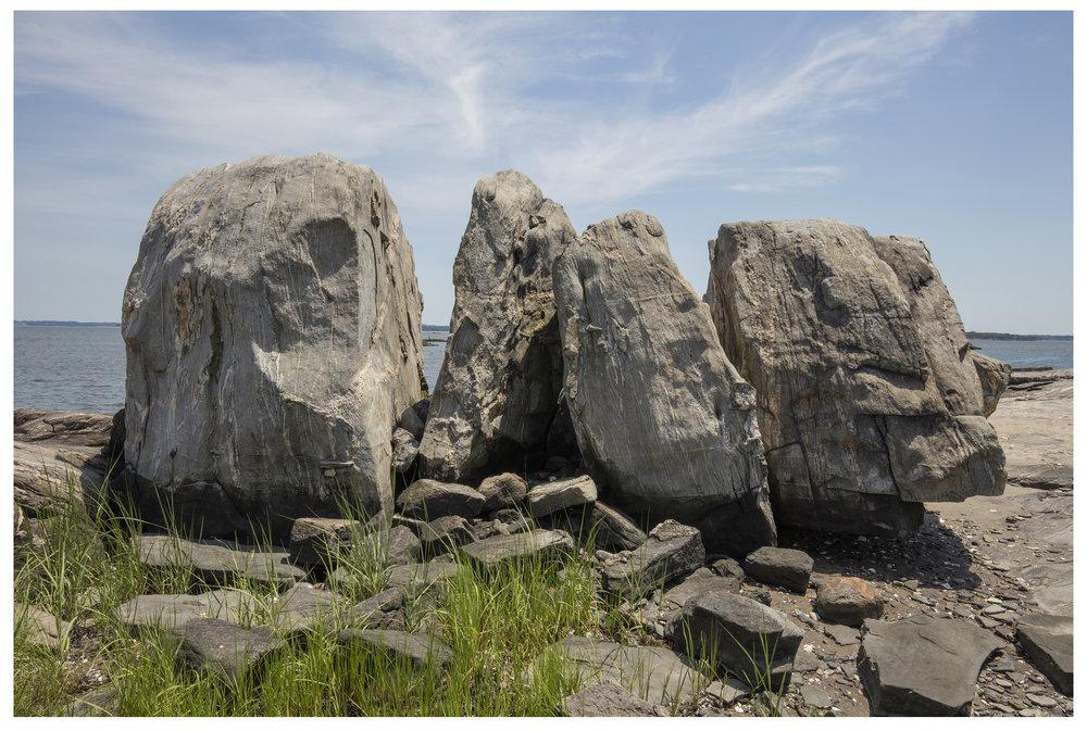 Four Pieced Stone, Glacial Erratic, Pelham Bay.jpg