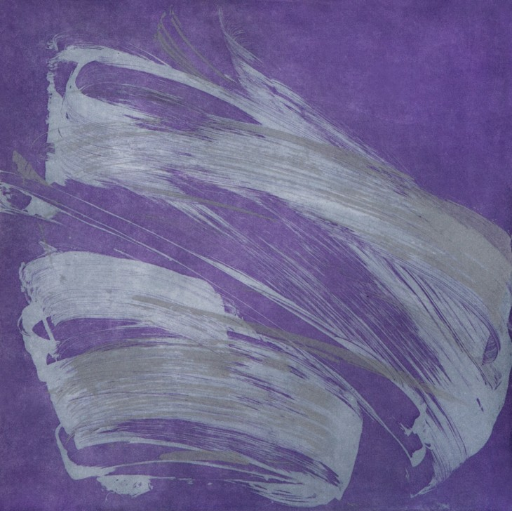 Jill Moser Wingate Violet, 2017 Soap ground, sugar lift, aquatint