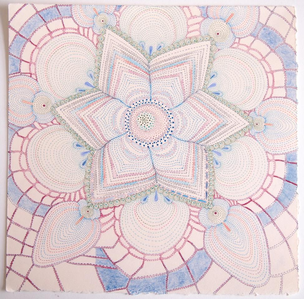 Sarah Morejohn Salt Agaricus 2018 Ink, colored pencil and graphite on paper
