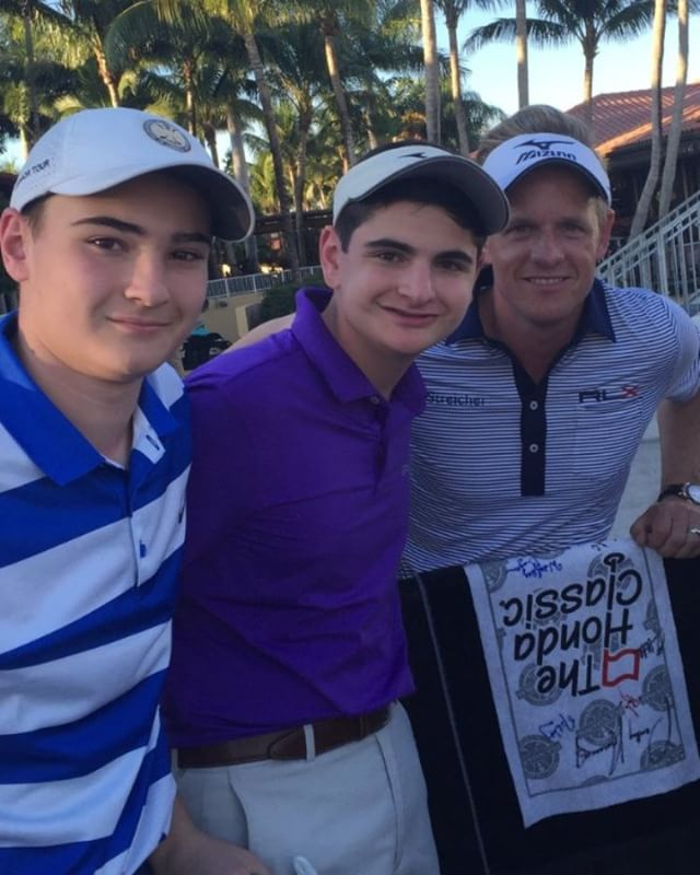 Our guy #LukeDonald with our juniors Matt and Joe. Great picture with even better people #golf #fortheloveofgolf #bensheargolf