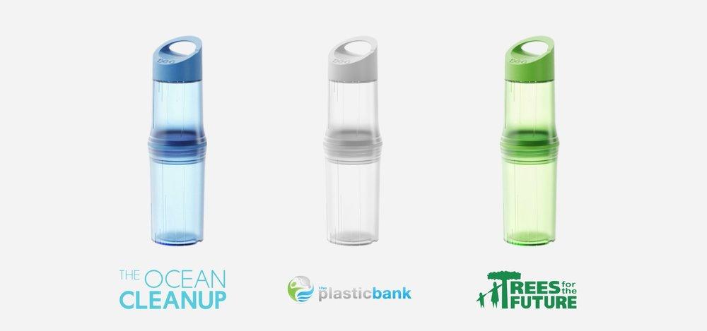 Be-O Bottle steunt drie goede doelen