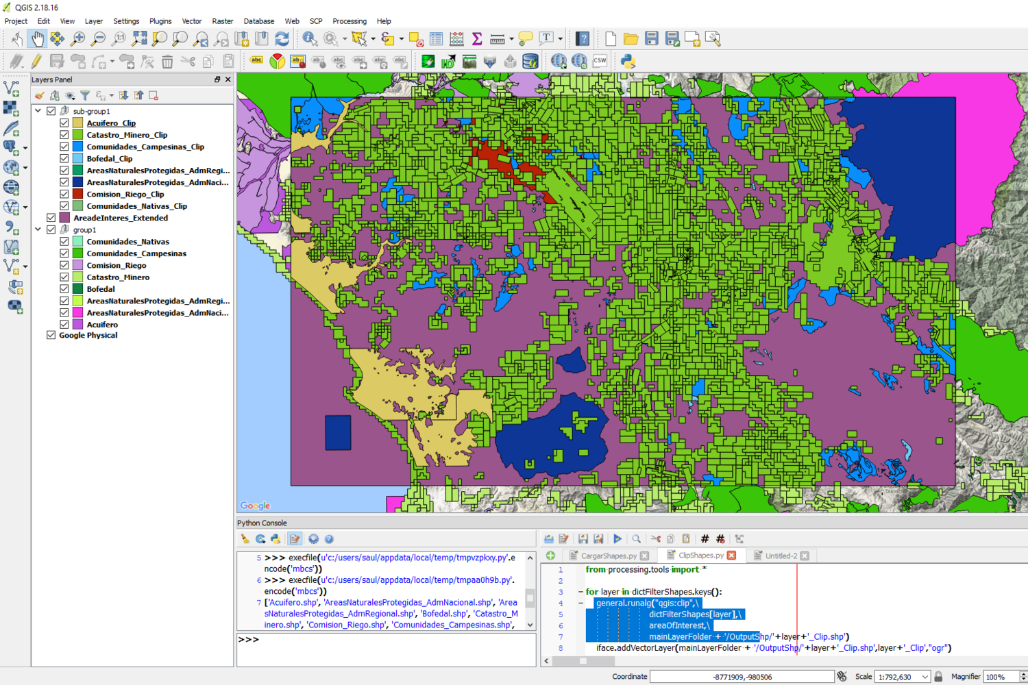Clip Multiple Layers in QGIS with PyQGIS - Tutorial — Hatari Labs