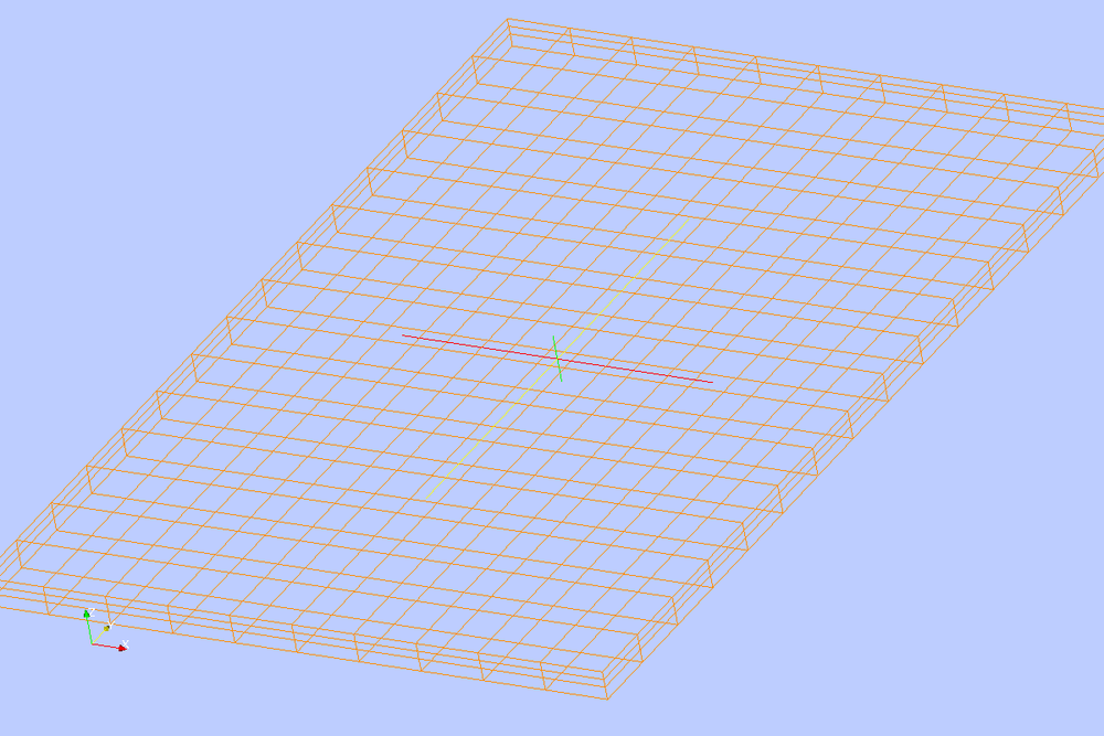 Isometric View of the Model Grid