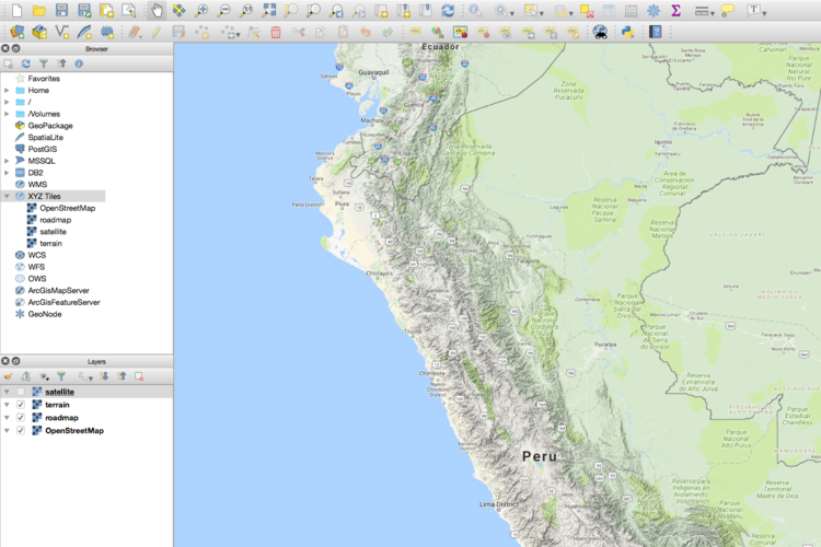 How to add a google mapterrainsatellite layer in qgis 3 tutorial screen shot 2018 03 19 at 54618 pmg gumiabroncs Images
