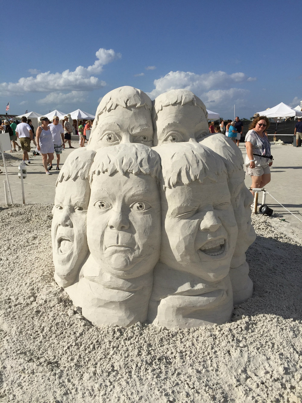 photo i took at the fort myers beach sand sculpting championships