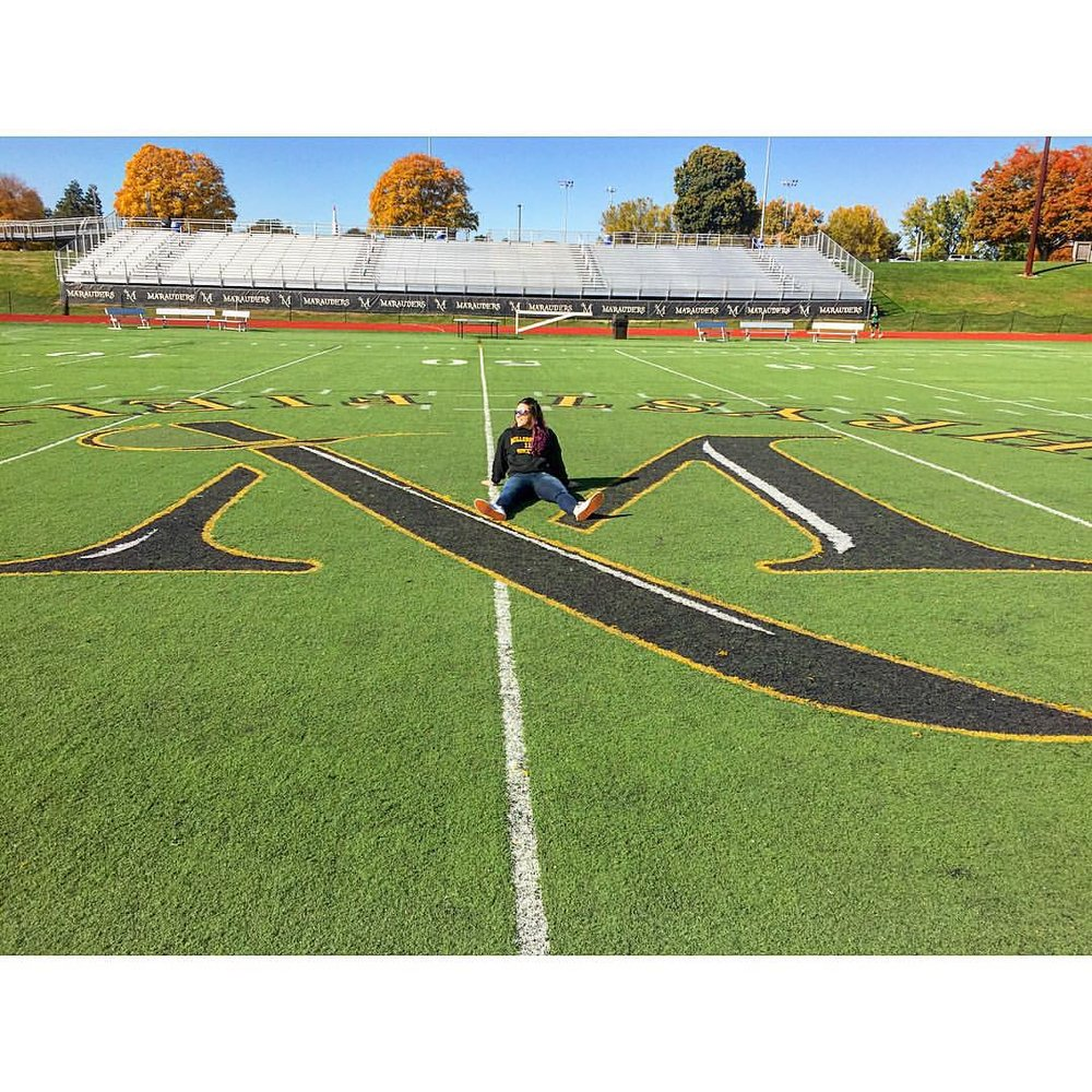 Me on my college soccer field
