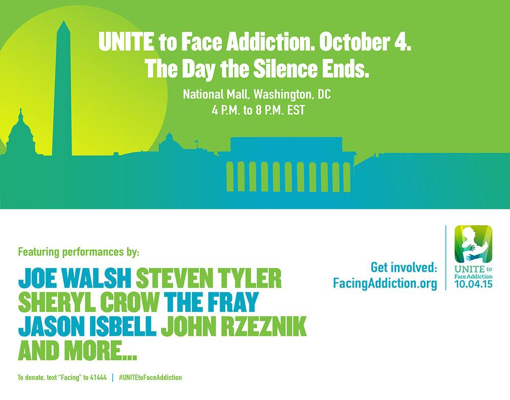 Unite to Face Addiction October 4 Washington D.C.