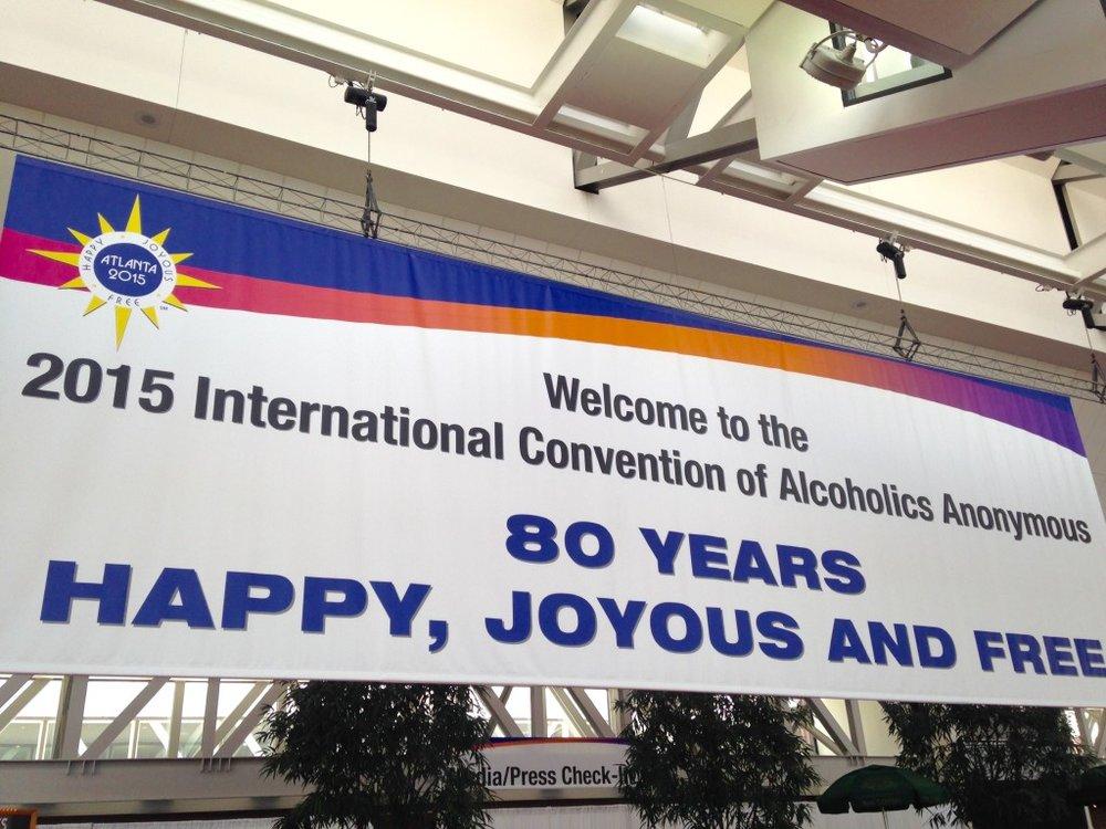 happy joyous free 80 years AA
