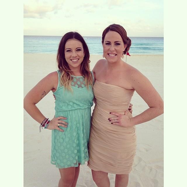 Cancun beach wedding sober